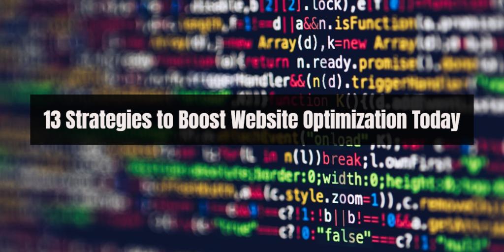 strategies website optimization